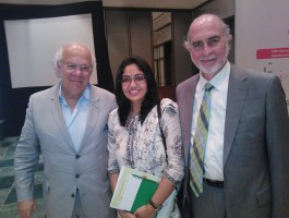 With noted Scientists Dr. Norbert Gliecher and Dr. David Barad.