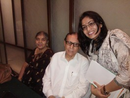 With Prof. B N Chakraborty, the pioneer in the field of IVF in India.